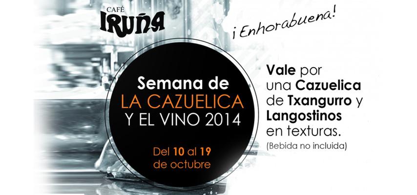 Primeros ganadores de 50 cazuelas en el Café Iruña
