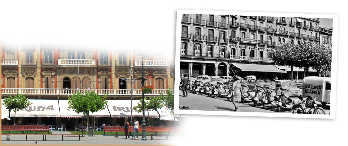 Plaza del Castillo, años 60
